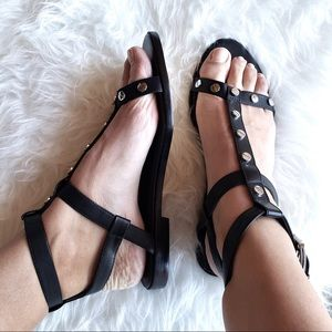 Rebecca Minkoff Shoes - NEW Rebecca Minkoff Black Studded Leather Sandals